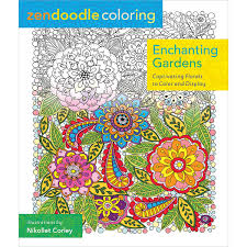 amazon com zendoodle coloring enchanting gardens captivating