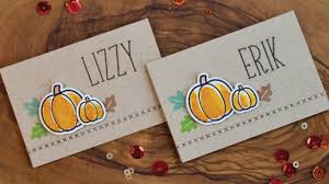 make thanksgiving cards how to make thanksgiving place cards youtube