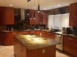 Kitchen Countertops And Backsplash Pictures Val D Desert Dream Granite Kitchen Countertop Island And Table