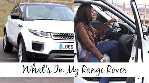 car range what u0027s in my car range rover edition review u0026 look inside my