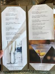 martini bar menu ncl breakaway drinks and menus cruise critic message board forums