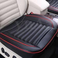 couvre siege cuir noir pu cuir voiture auto siège coussin housse cover couvre pad