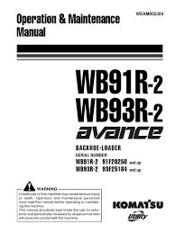 wb91 93 m weam002304 wb91r wb93r 2 loader equipment manual