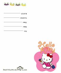 How To Design A Invitation Card Hello Kitty Printable Birthday Invitations Vertabox Com