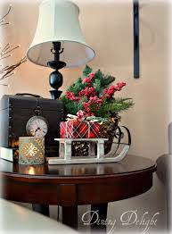 Christmas Centerpieces For Tables by Dining Delight Christmas Decor For End Tables