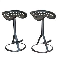 Tractor Seat Bar Stools For Sale Pair Vintage Tractor Bar Stools At 1stdibs