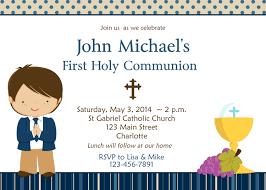 communion invitations boy contemporary holy communion invitations for granddaughter