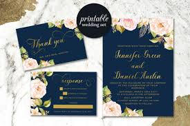 navy and blush wedding invitations navy blue wedding invitation blush pink floral wedding