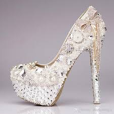wedding shoes high new 2016 luxury wedding shoes glitter sequins pearl bow formal