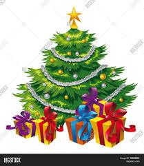 christmas tree cartoon vector vector u0026 photo bigstock