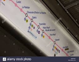 Metro Route Map by Route Map Of Paris Metro Inside Train Stock Photo Royalty Free