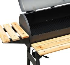 backyard charcoal grill outsunny 01 0329 charcoal bbq grill offset smoker combo with wheels