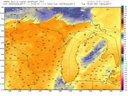 Us Dewpoint Map Michigan Weather Today Paradise Continues Mlive Com