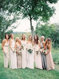 mix match bridesmaid dresses wedding wednesday mix match bridesmaids dresses nan jewelry