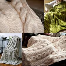 Cable Knit Rug 813 Best Knitted Blankets Images On Pinterest Knitting Patterns