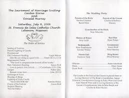 wedding ceremony programs wording wedding wedding program exles withayout for