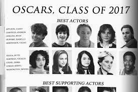 class yearbook presenting the oscars best acting class of 2017 yearbook page