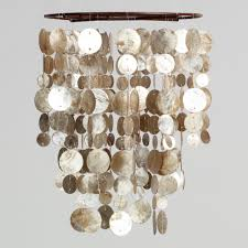 Glitter Home Decor Interior Wonderful Drum Glitter Brick Capiz Shell Chandelier For