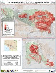 Map Of San Bernardino California Vegetation Mortality Maps