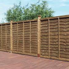 grange weston professional lap fence panel brown garden street