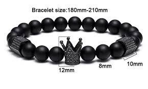 black titanium bracelet images Black titanium steel skull and metal crown bracelet diyosworld jpg