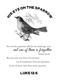 his eye is on the sparrow printable the mormon home