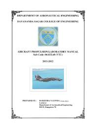 propulsion laboratory manual