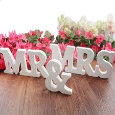 mr mrs wedding table decorations amazon com mr mrs wooden letters wedding decoration home kitchen