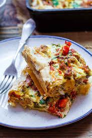 egg strata casserole italian style breakfast strata recipe with fillo crust video the