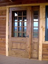 great wooden unfinished half glass front rustic doors as decorate