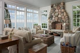 Beach Cottage Living Room Decorating Ideas With Basket Coffee - Cottage living room paint colors