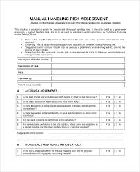 manual handling risk assessment manual handling example2 hofco