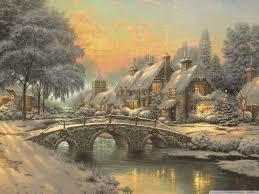 classic christmas classic christmas painting by kinkade 4k hd desktop