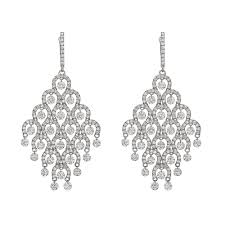 diamond chandelier earrings diamond chandelier earrings betteridge