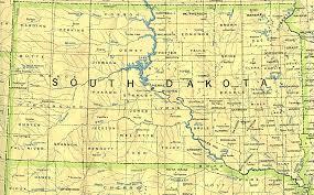 south dakota map with cities south dakota base map