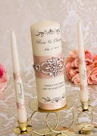 bougie personnalisã e mariage lunité de la dor mariage bougies ensemble personnalisé
