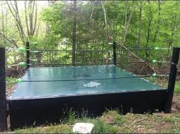 backyard wrestling ring for sale cheap how to make a backyard wrestling ring part 1 youtube