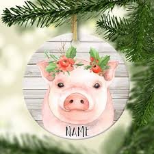 pig personalized ornament lucky accessories