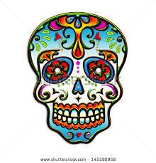 dia de los muertos sugar skulls sugar skull mexico dia de los stock illustration 145590958