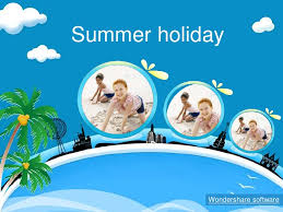 summer powerpoint template wonderful views of the beach holidays