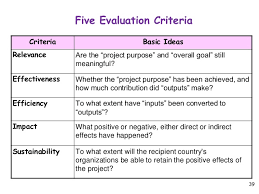 project evaluation project evaluation criteria template project