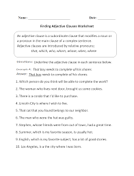 finding adjective clauses worksheet places to visit pinterest