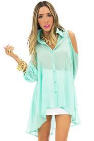 mint blouse shoulder cutout blouse mint haute rebellious