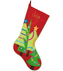 dimensions felt applique kit festive tree stocking filc zimna