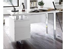 bureau design laqué blanc bureau design blanc laque avec rangement compact