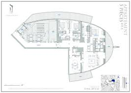 The Azure Floor Plan by Tour Odeon Luxury Apartment Agence Marsan Immobilier Monaco
