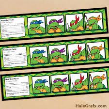 free printable teenage mutant ninja turtle birthday invitations