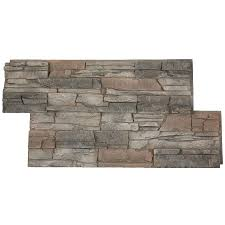 garden treasures faux stone outdoor fireplace steel stacked sq ft