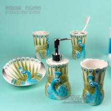Peacock Bathroom Accessories Peacock Figurine Online Shopping The World Largest Peacock