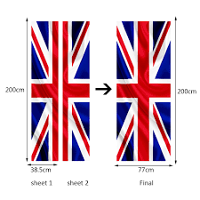 funlife union jack flag door sticker pvc waterproof mural poster funlife union jack flag door sticker pvc waterproof mural poster for living room bathroom home decor imitation 3d wall sticker in wall stickers from home